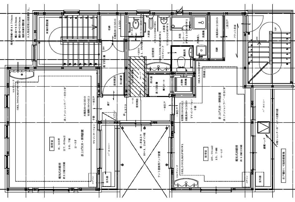 今井西保育園開園 平面図 2階